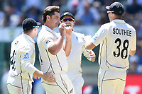 26th December 2019; Melbourne Cricket Ground, Melbourne, Victoria, Australia; International Test Cricket, Australia versus New Zealand, Test 2, Day 1; New Zealand players celebrate a wicket - Editorial Use