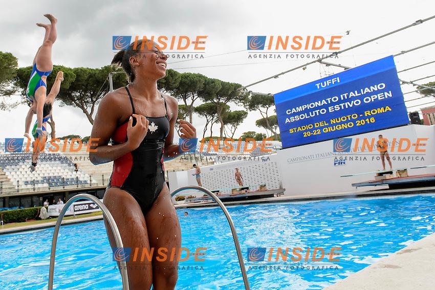 Jennifer Abel Canada <br /> 3m Sincro Springboard <br /> Roma 20-06-2016 Stadio del Nuoto Foro Italico Tuffi Campionati Italiani <br /> Foto Andrea Staccioli Insidefoto