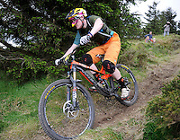 18th May 2014; Pearse Griffin in action during the Gravity Enduro Mountain Biking Round 2 event at Ticknock Hill, Co Dublin. Picture credit: Tommy Grealy/actionshots.ie.