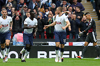 Eric Dier of Tottenham Hotspur is congratulated after scoring the first goal during Tottenham Hotspur vs Cardiff City, Premier League Football at Wembley Stadium on 6th October 2018