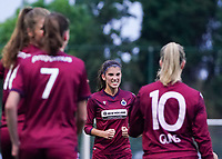 20200723, BEVEREN ,  BELGIUM : Brugge's Febe Vanhaecke pictured celebrating during a friendly soccer game between Bosdam Beveren and Club Brugge YLA Dames  in the preparations for the coming season 2020 - 2021 of Belgian Women's SuperLeague ,23 th of July 2020  in Beveren , Belgium . PHOTO SPORTPIX.BE | SEVIL OKTEM