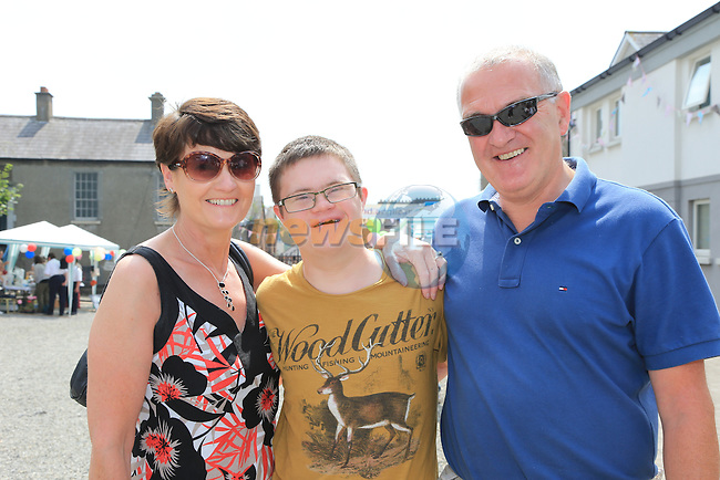 Mary, Daniel and Eoin Summers<br /> at the summer fair in St Peters church of Ireland.<br /> Picture:  www.newsfile.ie
