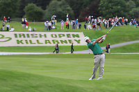 Paul McGinley (IRL) on the 18th on Day 1 Thursday of The Irish Open presented by Discover Ireland at Killarney Golf & Fishing Club on 28th July 2011 ..(Photo Jenny Matthews/www.golffile.ie)