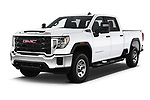 2020 GMC Sierra-2500HD - 4 Door Pick-up Angular Front automotive stock photos of front three quarter view