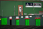 The home turnstiles outside The Oval, Belfast, pictured before Glentoran hosted city-rivals Cliftonville in an NIFL Premiership match. Glentoran, formed in 1892, have been based at The Oval since their formation and are historically one of Northern Ireland's 'big two' football clubs. They had an unprecendentally bad start to the 2016-17 league campaign, but came from behind to win this fixture 2-1, watched by a crowd of 1872.