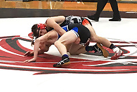 COURTESY PHOTO<br /> McDonald County's Jack Teague earns his way to state with a win over Isaiah Ragsdale of Marshfield in the consolation semifinals at 152 pounds at the Missouri Class 3 District 3 Wrestling Championships held Feb. 8-9 at Union High School.