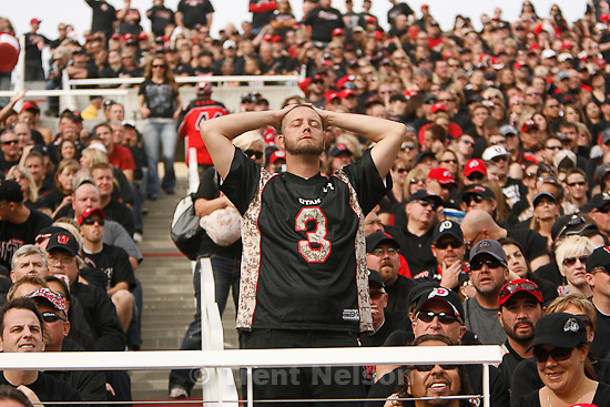 Trent Nelson  |  The Salt Lake Tribune.Utah fans during the first half, as TCU led Utah 23-0, college football, Saturday, November 6, 2010.