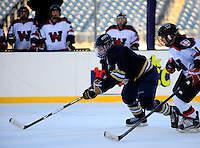 East Hartford, Conn. - In the Division III women's college entry of the Whalers HockeyFest played outdoors at Rentschler Field, the No. 8-ranked Trinity College Bantams extended its string of victories over the Wesleyan University Cardinals to nine with a 5-1 victory.