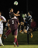 The Winthrop University Eagles played the College of Charleston Cougars at Eagles Field in Rock Hill, SC.  College of Charleston broke the 1-1 tie with a goal in the 88th minute to win 2-1.  Guilherme Avelar (31), Connor Coons (17)