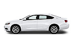 Car driver side profile view of a 2018 Chevrolet Impala 1LT 4 Door Sedan