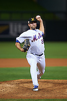 Salt River Rafters pitcher Kyle Regnault (28) delivers a pitch during an Arizona Fall League game against the Scottsdale Scorpions on October 13, 2015 at Salt River Fields at Talking Stick in Scottsdale, Arizona.  Salt River defeated Scottsdale 5-3.  (Mike Janes/Four Seam Images)