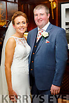 Hannah McCarthy, daughter of Eileen and the late Timmy, Abbeydorney, and Michael P Donegan, son of the late Paddy Donegan, Mary Donegan Carroll and Paddy Carroll, Ballinglanna, Causeway, who were married on Saturday in St Bernard's Church, Abbeydorney. Fr Brendan Walsh officiated at the ceremony. Best man was John Martin Carroll and groomsmen were Tommy Murphy and Patrick Boyle. Bridesmaids were Rosemarie Sheehy with Mary Bridget O'Connor and Eveleen Quille. Flowergirl was Hannah Rose Sheehy. Pageboys were Timmy McCarthy, Tadhg Quille and Ronan O'Connor. The reception was held in the Ballygarry House Hotel & Spa, Tralee and the couple reside in Causeway.