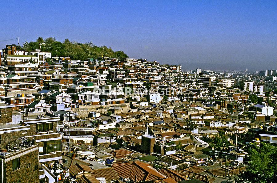 Cidade de Seul capital da Coréia do Sul. Foto de Ricardo Azoury. Data: 1999