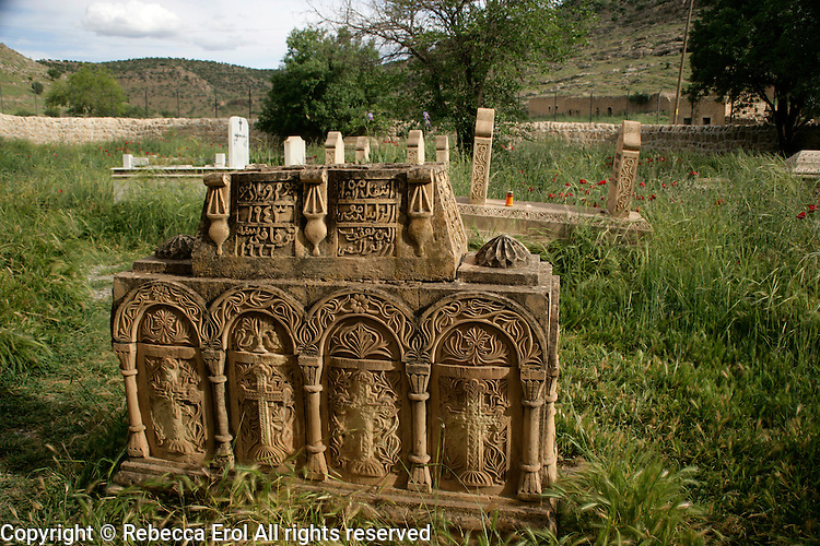 A Syriac Christian grave in the village of Dereici, Tur Abdin, southeastern Turkey