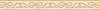"""4"""" Beaux border, a hand-cut stone mosaic, shown in honed Ivory Cream, Jerusalem Gold."""
