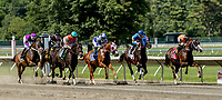 OCEANPORT, NJ - JULY 29: Name Changer, #5, ridden by Jose Ortiz, wins the Monmouth Cup on Haskell Invitational Day at Monmouth Park Race Course on July 29, 2018 in Oceanport, New Jersey. (Photo by Sue Kawczynski/Eclipse Sportswire/Getty Images)