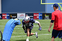 June 7, 2018: New England Patriots linebacker Dont'a Hightower (54) hits a tackle dummy at the team's mini camp held on the practice fields at Gillette Stadium, in Foxborough, Massachusetts. Eric Canha/CSM