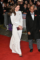 Her Royal Highness The Duchess of Cambridge arrives at 'A Street Cat Named Bob' world film premiere at the Curzon cinema, Mayfair, London November 03, 2016.<br /> CAP/PL<br /> &copy;Phil Loftus/Capital Pictures /MediaPunch ***NORTH AND SOUTH AMERICAS ONLY***