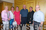 Siobhan Kearney, Joan Walsh, Nora Feeley, Fr. Dan O'Riordan, Noreen O'Sullivan and Peter Rogers enjoying the Radio Kerry Concert 'All Irish' at the Brandon Hotel on Monday