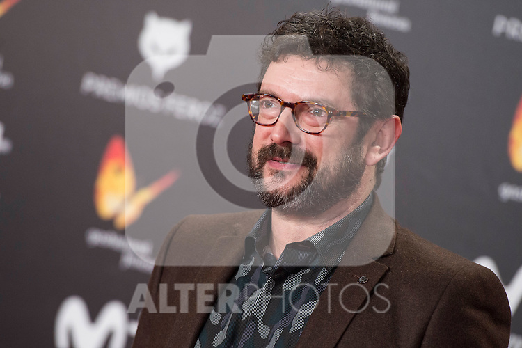Manolo Solo attends red carpet of Feroz Awards 2018 at Magarinos Complex in Madrid, Spain. January 22, 2018. (ALTERPHOTOS/Borja B.Hojas)
