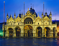 Balsilica San Marco at Sunrise, Built in 1071, on Piazza De San Marco, Venice, Italy