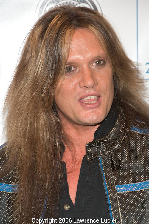 Recording star Sebastian Bach arrives at the launch party for 255 Hudson Condominiums May 4, 2006, at the Classic Car Club of Manhattan.. (Pictured : Sebastian Bach).