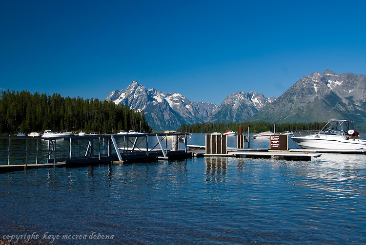 Grand Tetons,Jackson Lake, and Leeks Marina