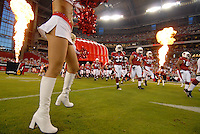 Aug 25, 2007; Glendale, AZ, USA; Arizona Cardinals players take the field prior to taking on the San Diego Chargers at University of Phoenix Stadium. Mandatory Credit: Mark J. Rebilas-US PRESSWIRE Copyright © 2007 Mark J. Rebilas