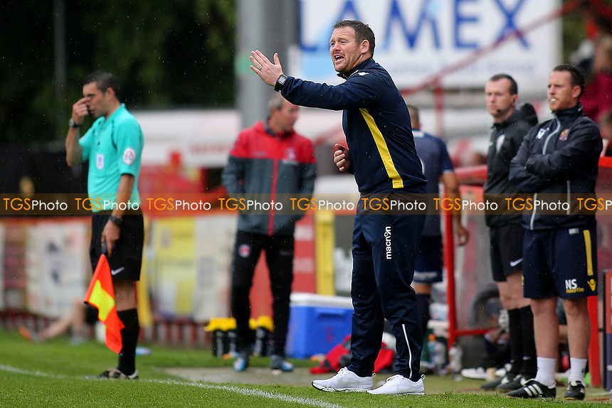 Stevenage Manager, Darren Sarll during Stevenage vs Charlton Athletic, Friendly Match Football at the Lamex Stadium on 22nd July 2017