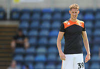 Blackpool's Joe Bunney during the pre-match warm-up <br /> <br /> Photographer Kevin Barnes/CameraSport<br /> <br /> The EFL Sky Bet League One - Wycombe Wanderers v Blackpool - Saturday 4th August 2018 - Adams Park - Wycombe<br /> <br /> World Copyright &copy; 2018 CameraSport. All rights reserved. 43 Linden Ave. Countesthorpe. Leicester. England. LE8 5PG - Tel: +44 (0) 116 277 4147 - admin@camerasport.com - www.camerasport.com