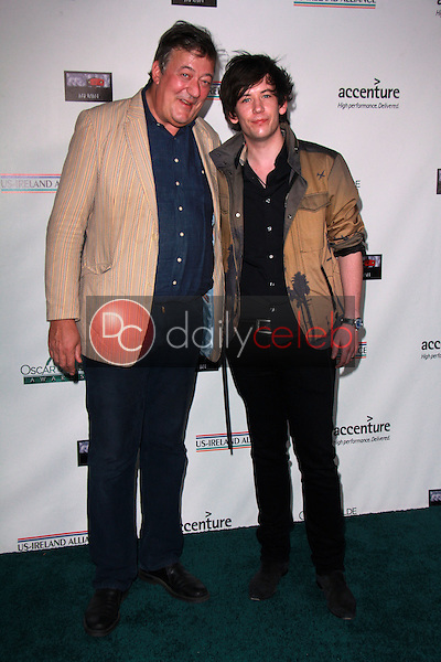 Stephen Fry, Elliott Spencer<br /> at the Oscar Wilde US-Ireland Pre-Academy Awards Event, Bad Robot, Santa Monica, CA 02-19-15<br /> David Edwards/DailyCeleb.com 818-249-4998