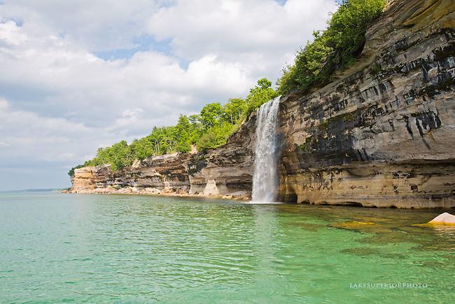 Spray Falls, Summer, Lake Superior, view