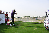 Branden Grace (RSA) tees off the par3 13th tee during  Sunday's Final Round of the Commercial Bank Qatar Masters 2013 at Doha Golf Club, Doha, Qatar 26th January 2013 .Photo Eoin Clarke/www.golffile.ie