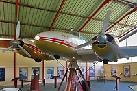 Jojo, the small aeroplane belonging to the Belgian singer Jacques Brel, 1929-78, who lived in Hiva Oa from 1976, displayed in a hangar in the Centre Jacques Brel, in Atuona, on the island of Hiva Oa, in the Marquesas Islands, French Polynesia. Jacques Brel was a keen pilot and used his plane to bring supplies to the island and ferry locals to Tahiti when necessary. Picture by Manuel Cohen