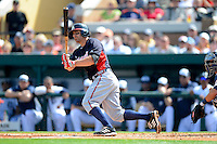 Atlanta Braves outfielder Reed Johnson #7 during a Spring Training game against the Detroit Tigers at Joker Marchant Stadium on February 27, 2013 in Lakeland, Florida.  Atlanta defeated Detroit 5-3.  (Mike Janes/Four Seam Images)
