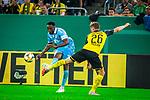 09.08.2019, Merkur Spiel-Arena, Düsseldorf, GER, DFB Pokal, 1. Hauptrunde, KFC Uerdingen vs Borussia Dortmund , DFB REGULATIONS PROHIBIT ANY USE OF PHOTOGRAPHS AS IMAGE SEQUENCES AND/OR QUASI-VIDEO<br /> <br /> im Bild | picture shows:<br /> Flanke Osayamen Osawe (KFC Uerdingen #35), <br /> <br /> Foto © nordphoto / Rauch