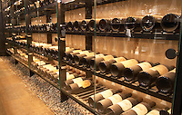 Wine rack with a collection of rare first growth clarets of all available vintages. Ulriksdal Ulriksdals Wärdshus Värdshus Wardshus Vardshus Restaurant, Stockholm, Sweden, Sverige, Europe