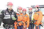 Phil Gorman, Sarah Keogh, Jean Butterly, Emma Lawlor and Sarah Beirnes who abseiled off the roof of the D Hotel to raise money for Drogheda Animal Rescue...Picture Jenny Matthews/Newsfile.ie