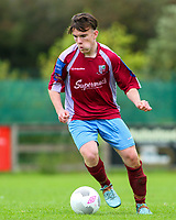 Aaron Connolly (At age 15) of Mervue United U17 in action against Longford Town.<br /> <br /> Mervue United v Longford Town, U17 SSE Airtricity League, 19/9/15, Fahy's Field, Mervue, Galway.