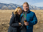 Cynthia McLeod and Lewis Shorb at the Raptor Highway and Byway tour area during the Eagles & Agriculture event on Friday, Jan. 26, 2018 in the Carson Valley.