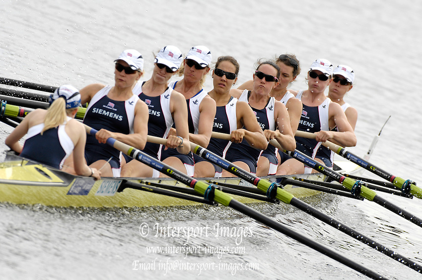 Poznan, POLAND,  GBR W8+, move away from the start in their morning heat, at the 2008 FISA World Cup. Rowing Regatta. Malta Rowing Course on Saturday, 21/06/2008. [Mandatory Credit:  Peter SPURRIER / Intersport Images] .Crew, Bow, Bet RODFORD, Carla ASHFORD, Natasha HOWARD, Natasha PAGE, Jessica-Jane EDDIE, Sarah WINCKLESS, Alison KNOWLES, Stroke Katie GREVES and cox Caroline O'CONNER. Rowing Course:Malta Rowing Course, Poznan, POLAND