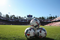 Stanford, CA - Saturday July 01, 2017: Balls during a Major League Soccer (MLS) match between the San Jose Earthquakes and the Los Angeles Galaxy at Stanford Stadium.