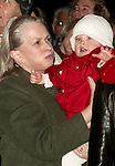 Teri Shields with Brooke's daughter Rowan watch as Brooke Shields helps light the 2004 Broadway Holiday Tree at Duffy Square in Times Square, New York City. The Theatre Development Fund and The League of American Theatres and Producers make a $5,000 Donation to the Actor's Fund's Phyllis Newman Womens Health Initiative..December 8, 2004.© Walter McBride / Retna Ltd.