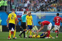 Saint Petersburg, RUSSIA - Tuesday, July 3, 2018: Sweden beat Switzerland 1-0 at Saint Petersburg Stadium.