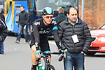 Salvatore Puccio (Sky Procycling) makes his way to the start of the 56th edition of the E3 Harelbeke, Belgium, 22nd  March 2013 (Photo by Eoin Clarke 2013)