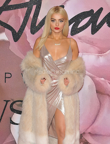 "Bleta ""Bebe"" Rexha at the Fashion Awards 2016, Royal Albert Hall, Kensington Gore, London, England, UK, on Monday 05 December 2016. <br /> CAP/CAN<br /> ©CAN/Capital Pictures /MediaPunch ***NORTH AND SOUTH AMERICAS ONLY***"