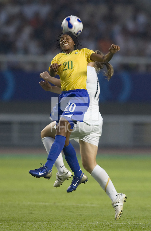 Brazil midfielder (20) Ester. Brazil (BRA) defeated New Zealand (NZL) 5-0 in their  FIFA Women's World Cup China 2007 Group D opening round match at Wuhan Sports Center Stadium in Wuhan, China on September 12, 2007.