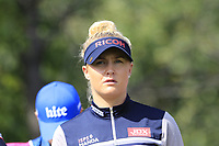 Charley Hull (ENG) on the 5th tee during Friday's Round 2 of The Evian Championship 2018, held at the Evian Resort Golf Club, Evian-les-Bains, France. 14th September 2018.<br /> Picture: Eoin Clarke | Golffile<br /> <br /> <br /> All photos usage must carry mandatory copyright credit (&copy; Golffile | Eoin Clarke)