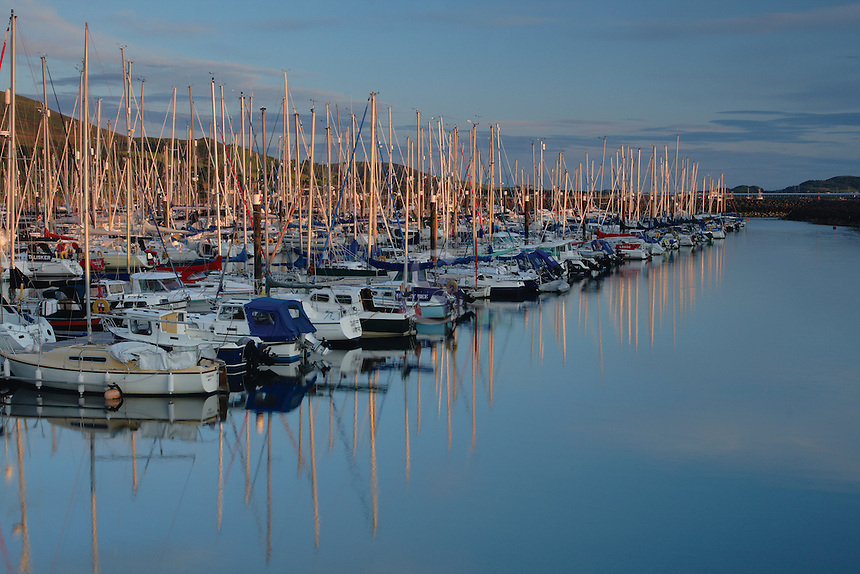 Largs Marina at dusk, Largs, Ayrshire<br /> <br /> Copyright www.scottishhorizons.co.uk/Keith Fergus 2011 All Rights Reserved