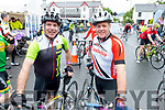 Seanie Gleasure and Seclan Costello, Tralee, who took part in the Ring of Beara Cycle in Kenmare on Saturday morning last.